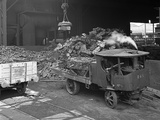 Loading a Steam Wagon with Scrap at a Steel Foundry  Sheffield  South Yorkshire  1965