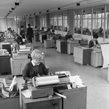 The Administration Office at Huntsman House  Tetleys Headquarters in Leeds  May 1968