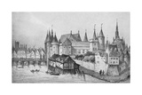 The Pont Aux Meuniers and Part of the Palais Du Roi De La Cite in 1556  1915