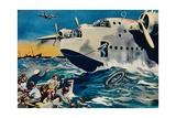 Two Short Sunderlands Rescuing Crew  1940