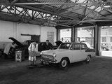 Scene in Globe and Simpsons Auto Electrical Workshop  Nottingham  Nottinghamshire  1961