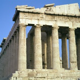 View of the North-West Corner of the Parthenon  5th Century Bc
