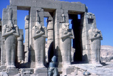 Colossal Statues of Rameses Ii  the Ramesseum  Temple of Rameses Ii  Luxor  Egypt  C1300 Bc