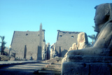 Temple Sacred to Amun Mut and Khons (Khonsu)  Luxor  Egypt