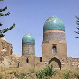 Tombs of Timurs Nurse and Her Daughter in Shah-I Zindah  14th Century