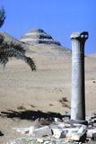 Step Pyramid of King Djoser (Zozer) Behind Ruins of Temple  Saqqara  Egypt  C2600 Bc