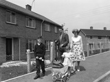 Street Scene with Family  Ollerton  North Nottinghamshire  11th July 1962