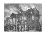 Burning of Covent Garden Theatre  1856