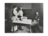 A Nurse Examines Girls Hair  Central Street Cleansing Station  London  1914