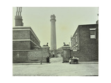 Shot Tower  Gates with Sphinxes  and Milk Cart  Belvedere Road  Lambeth  London  1930