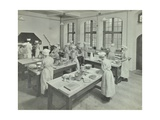 Cookery Class  Hammersmith Trade School for Girls  London  1915