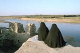 Two Iraqi Women at Bash Tapia Castle  Mosul  Iraq  1977