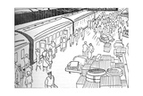 An Illusttration of a 1930S Railway Station  1937