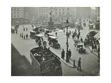 Traffic at Piccadilly Circus  London  1912