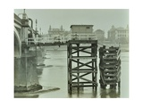 Emergency Water Supply Pump Platform  Westminster Bridge  London  Wwii  1944