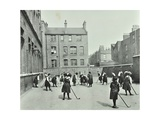 Hockey Game  Myrdle Street Girls School  Stepney  London  1908