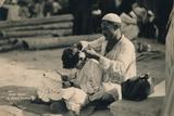A Street Barber  Cairo  Egypt  1936