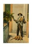Habana Vendedor De Tabaco Tobacco Street Seller  C1910S