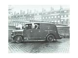 Firemen Inside a Fire Engine  Kingsland Road Fire Station  London  1935
