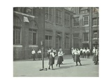 Girls Playing Netball in the Playground  William Street Girls School  London  1908
