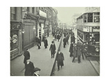 People Rushing to Get on a Trolley Bus at 705 Am  Tooting Broadway  London  April 1912