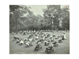 Children Resting in Deck Chairs  Bostall Woods Open Air School  London  1907