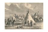 Village of Prairie Indians  C19th Century