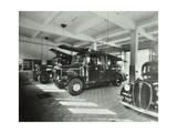 Fire Engines at Battersea Fire Station  Este Road  Battersea  London  1938