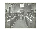 Language Lesson on Daffodils at Oak Lodge School for Deaf Girls  London  1908