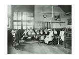Housewifery Lesson  Childeric Road School  Deptford  London  1908
