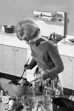 Kitchen Scene  Warwick  Warwickshire  1966