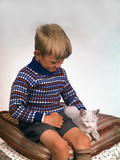 Child with a Cat  1963