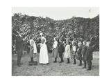 Children Being Weighed in the Garden  Montpelier House Open Air School  London  1908