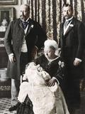 The Future King Edward Viiis Christening Day  16 July 1894