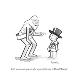 """Let's see how cute you are after a year of listening to Donald Trump"" - Cartoon"