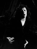 Singer Edith Piaf Singing on Stage