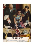 Craven a Cork-Tipped Virginia Cigarettes  1937