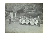 Arithmetic Lesson in the Garden  Birley House Open Air School  London  1908