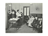 Nurse Cutting Childrens Verminous Hair  Finch Street Cleansing Station  London  1911