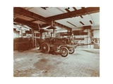 Fire Engine at Cannon Street Fire Station  Cannon Street  City of London  1907