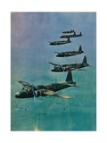 Wellington Bombers in Formation  1940