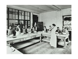 Student Teacher in a Cookery Lesson  Battersea Polytechnic  London  1907