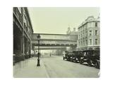 Cabs Waiting Outside Waterloo Station  Lambeth  London  1930