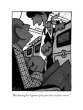 """""""But having less legroom puts you closer to your screen"""" - New Yorker Cartoon"""
