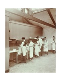 Scullery Practice  Sailors Home School of Nautical Cookery  London  1907