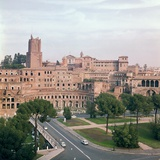 View of Trajans Market from the Forum of Trajan