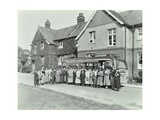 Group of Women Visitors in Front of a School  Croydon  1937