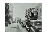 Traffic on the New Kent Road  Southwark  London  1947