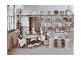 Basketry Workshop at Elm Lodge Residential School for Elder Blind Girls  London  1908
