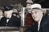Franklin D Roosevelt and Winston Churchill Meeting in Quebec  Canada  1944